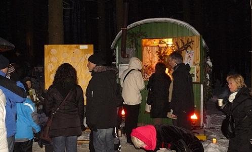 Waldweihnacht 2010 Bauwagen Weihnachtsmärkte im Spessart