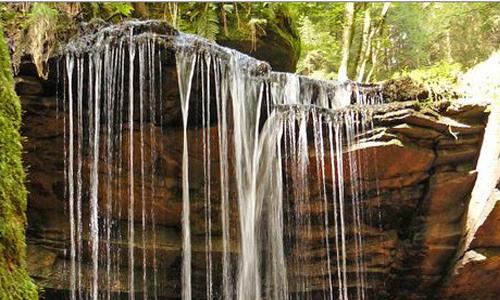 Wasserfall Tretstein Gewässerspaziergang zum Wasserfall Tretstein