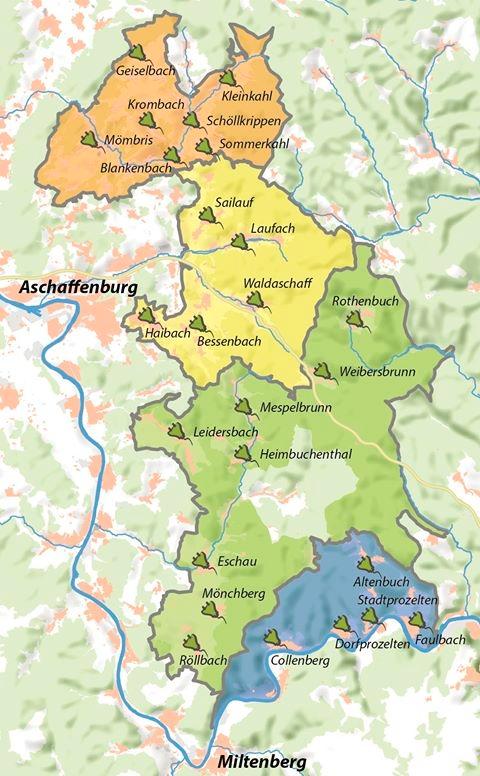 """karte Wald erFahren Feierlicher Start des Projekts """"Wald erFahren"""""""