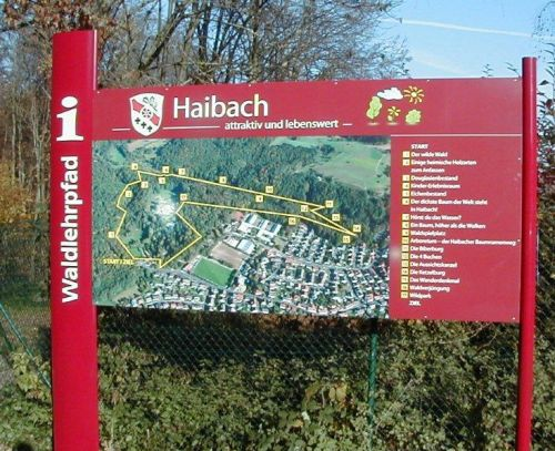 lehrpfad haibach Walderlebnispfad Haibach