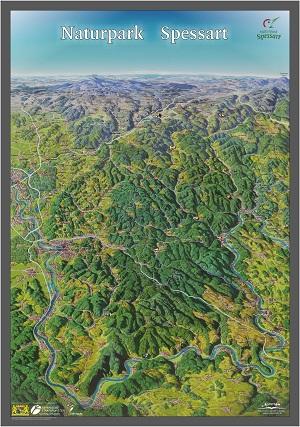 panoramakarte Neu: Panoramakarte des Spessarts