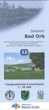 titelseite Karte Bad Orb klein  Topographische Freizeitkarte Bad Orb ab sofort erhältlich