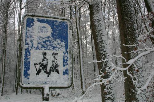 wanderschild winter Vorspessart Winterwanderung