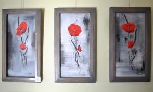 3xmohn 300x180 Ausstellung Spaß am Malen ist wieder geöffnet