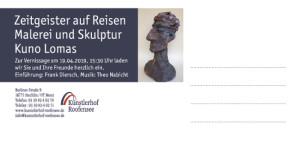 Einladung Zeitgeister2 300x142 Ausstellungseröffnung im Künstlerhof Roofensee in Menz