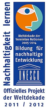 Logo UN Dekade Offizielles Projekt 2011 2012 rgb Naturwächter Thomas Hahn