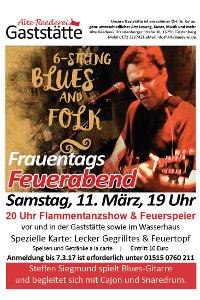 MiniPlakat Feuerabend11 03 2017 Frauentags Feuerabend in der Alten Reederei in Fürstenberg/Havel