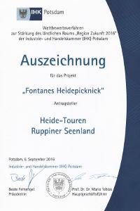 Oktober Urkunde Vier ausgezeichnete Projekte kommen aus dem Naturpark!