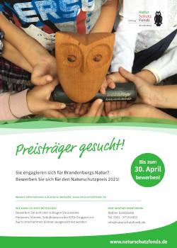 Plakat Naturschutzpreis 2021 A3 Jetzt für Brandenburger Naturschutzpreis bewerben!