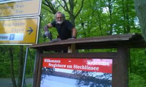 Rep Infoaufsteller Neuglobsow 300x180 Egbert Witzlau geht als zertifizierter Natur  und Landschaftsführer an den Start
