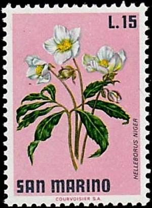 San Marino 300x409 Gedruckt, geschickt, gepflanzt   Pflanzen auf Briefmarken und im Garten