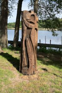 Skulptur Skulptur am Dagowsee wurde repariert
