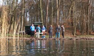 auto an badestelle 300x180 Ungetrübter Ferienspaß im Naturschutzgebiet Stechlin