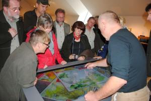Dichtumlagert war der digitale Kartentisch im BARNIM-Panorama