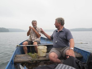 Wissenschaftler im Boot