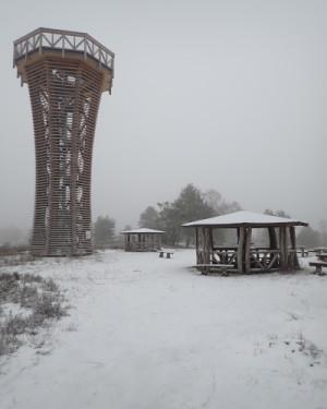 sielmannturm 300x375 Winterwanderung in die Kyritz Ruppiner Heide