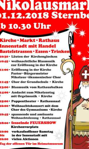 Plakat Nikolausmarkt 2018 klein Nikolausmarkt Sternberg