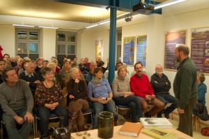 Besucher bei einem Vortrag