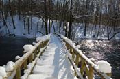 Warnowbrücke mit Schnee
