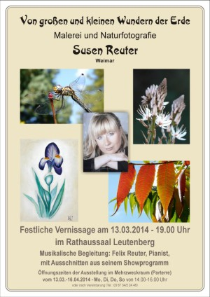 Plakat Ausstellung Susen Reuter in Leutenberg