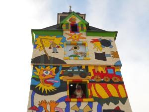 bunter Turm in Wurzbach Foto: Danny Fränkel