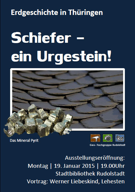 broschüre Erdgeschichte in Thüringen: Schiefer   ein Urgestein