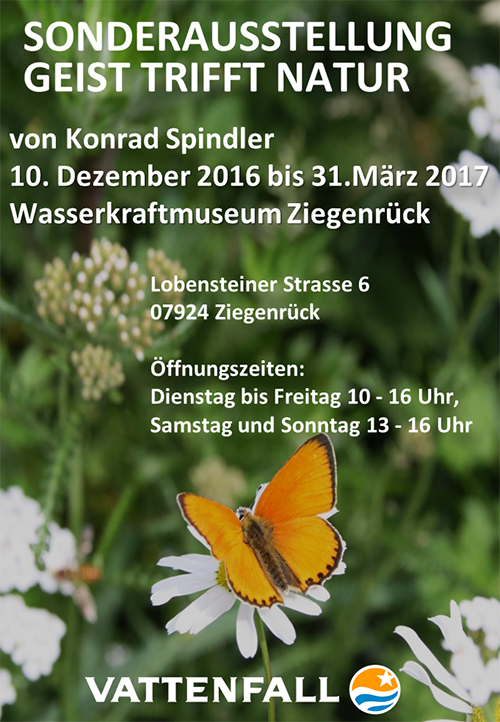 plakat Geist trifft Natur   Ausstellung Konrad Spindler