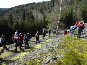 wandern27 300x225 Abenteuer Erdgeschichte – Geologische Wanderung im Oertelsbruch bei Schmiedebach