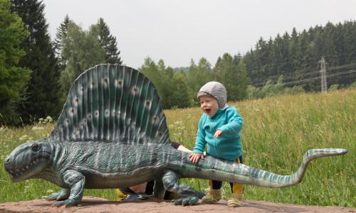 """1 0419 SauierErlebnispfad Dimetrodon """"Erdgeschichte wird erlebbar   Nationale Geoparks"""