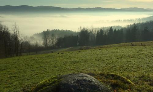 2 morgennebel ber denm weschnitztalb Geo Naturpark Bergstraße Odenwald