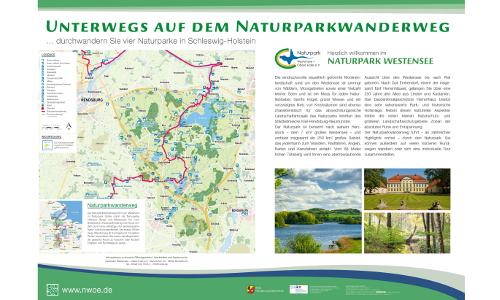 20 04 14 NPW Uebersichtstafel DIN A 0 Westensee Freigabeb Naturparkwanderweg von Maasholm nach Brokstedt