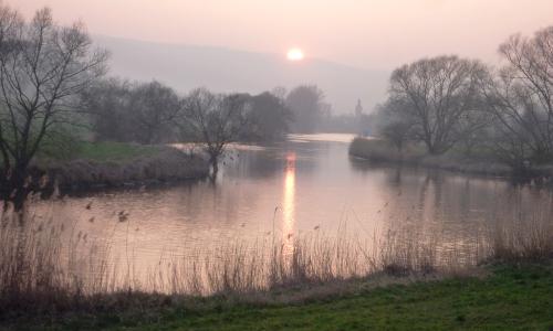 Abendsonne im März 2014 an der Werra im Naturpark Münden c S. Susat beitrag Spannend und vielfältig – Naturpark Münden