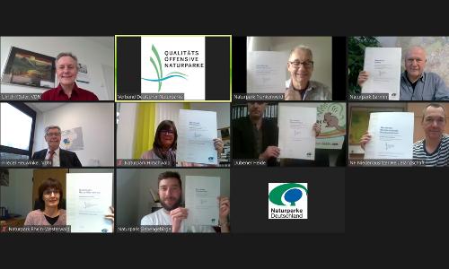 Auszeichnung Qualitätsoffensive Naturparke 2020 Screenshot 2 B Ausgezeichnete Arbeit