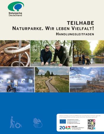 Barrierefrei Leitfaden Titel 940x13301 Teilhabe. Naturparke – Wir leben Vielfalt!