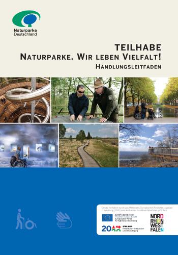 Barrierefrei Leitfaden Titel beitrag Teilhabe. Naturparke – Wir leben Vielfalt!
