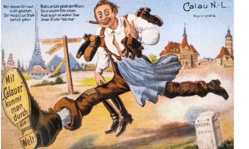 Calau Postkarte der Firma Otto Forwergckb Der Kalauer