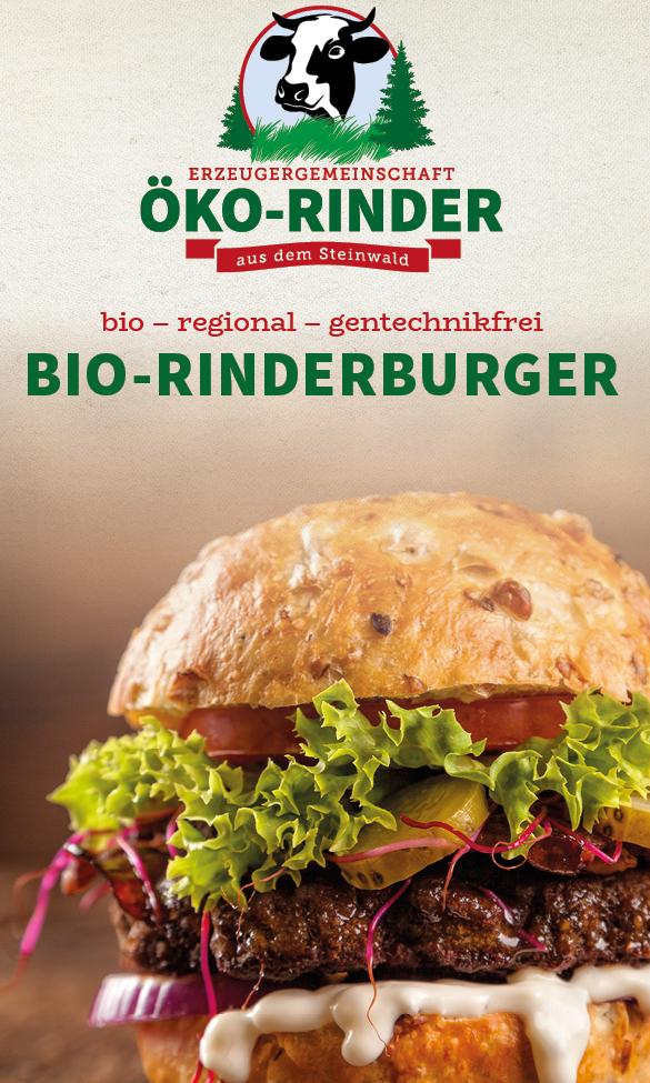 Foto Bio Rinderburger aus dem Steinwaldb Der regionale Bio Rinder Burger   für das gute Gewissen!