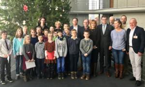 Feierliche Übergabe des Weihnachtsbaumes an den Deutschen Bundestag - Copyright: Naturpark Barnim/A. Brodersen