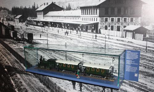 Höchste Eisenbahnb NaturparkWelten im Grenzbahnhof Bayerisch Eisenstein