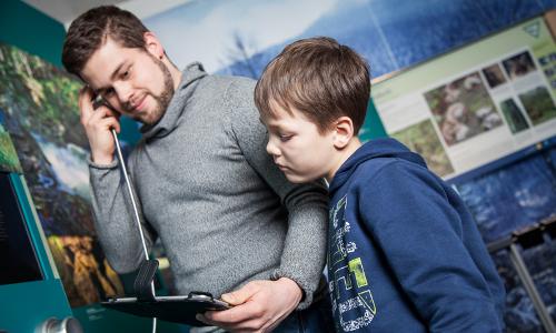 König Arber Interaktive Ausstellungb NaturparkWelten im Grenzbahnhof Bayerisch Eisenstein