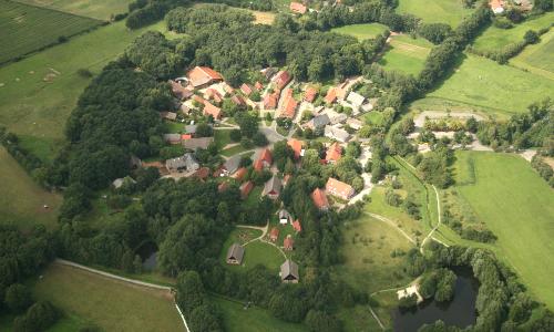Luftbild Lübeln Bild EWTb Naturpark Elbhöhen Wendland