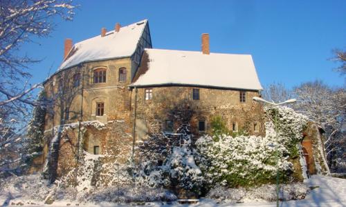 NPF Burg Roßlau im Schnee Abwechslung und Ruhe – Naturpark Fläming