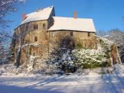 Burg Roßlau im Schnee - Copyright: Naturpark Fläming