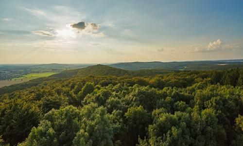 Traumhaft Weitblick in den Naturpark von der Steinegge in Dissen Beitrag  Natur  und Geopark TERRA.vita