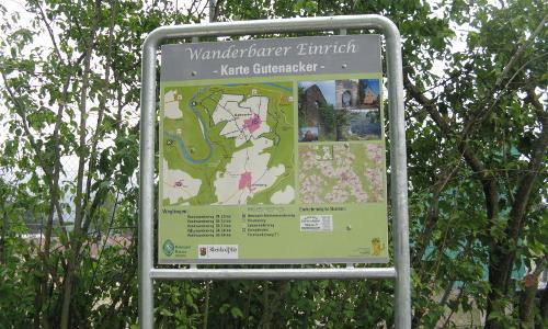 Wandertafel bei Gutenacker Ursula Braunb Naturpark Nassau