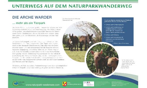 Westensee A2 Arche Warderb Naturparkwanderweg von Maasholm nach Brokstedt