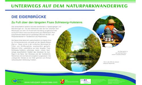 Westensee A2 Eiderbrückeb Naturparkwanderweg von Maasholm nach Brokstedt