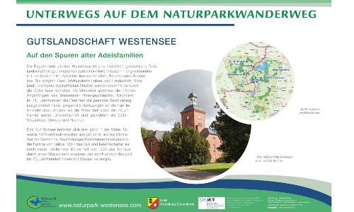 Westensee A2 Gutslandschaft Westenseeb Naturparkwanderweg von Maasholm nach Brokstedt