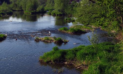 arnsberg an der ruhr blick von der schtzenbrcke flussaufwrts in richtung altstadt volkmar brockhausb Schöne Kurven   Flussrenaturierungen in Naturparken