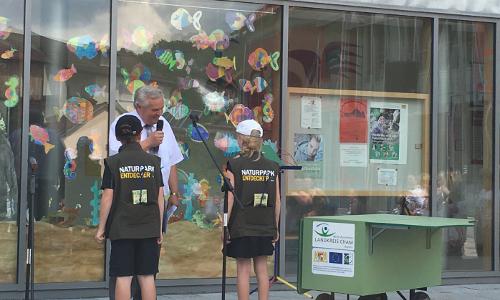 "ernnennung np schule2 2 ""Erfolgsgeschichte""  46. Naturpark Schule ausgezeichnet"